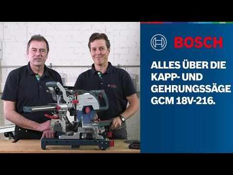 Alles über die Bosch Professional GCM 18V-216 BITURBO Brushless Kapp- & Gehrungssäge