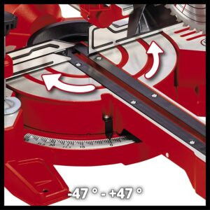 Einhell TC-SM 216 Drehteller Einstellung für Gehrung